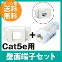 Cat5e 壁面端子セット Cat.5e RJ45 LAN用...