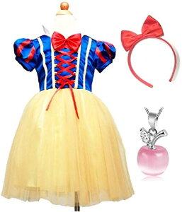 子供 コスプレ 白雪姫 ドレス 林檎のネックレスセット