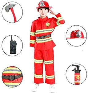 こども キッズ コスプレ衣装 消防士 小道具 セットコ