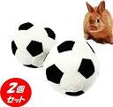 うさぎ おもちゃ 転がす やわらか ボール 2個セット(9×9×9)