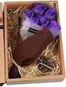 ソープフラワー 花束 フレグランス ギフト 母の日 父の日 誕生日 結婚 記念日 クリスマス フ゜レセ゛ント 紫 7本 purple(紫 7本)