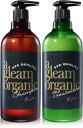 a gleam organic シャンプー & トリートメント ボタニカル ノンシリコン スパ品質 ローズセット 500ml&500ml