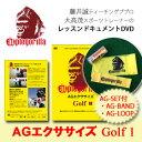 【エクササイズDVD】AGエクササイズ Golf 1 [AG-SET付] applegorilla アップルゴリラ DVD 藤井誠プロと大高茂トレーナーのレッスンドキュメント【ゴルフ】