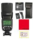 日本正規代理店 Godox Ving V860IIC GN60 スピードライト フラッシュ ストロボ TTL 1/8000s HSS Canon キャノン対応 1年保証/日本語説明書/クロス付/セット品 (V860IIC)