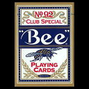 トランプカード ビーカード ポーカーサイズ (青/ブルー) 【Bee 正規代理店仕入品 ラスベガス・カジノで最も使用されているカード USプレイングカード社製】...