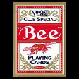 トランプカード ビーカード ポーカーサイズ (赤/レッド) 【Bee 正規代理店仕入品 ラスベガス・カジノで最も使用されているカード USプレイングカード社製】 【RCP】
