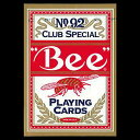 トランプカード ビーカード ポーカーサイズ (赤/レッド) 【Bee 正規代理店仕入品 ラスベガス・カジノで最も使用されているカード USプレイングカード社製】...
