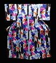 ショッピング金魚 ★在庫処分中!ブランド浴衣山本彩ゆかた NO12白地に大きな黒の矢羽に金魚と萩の花模様仕立て上がりゆかた早い者勝ち送料無料