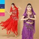 ショッピングコスチューム ベリーダンス衣装 インドダンス 舞台 中袖 6色 セット コスチューム hy0044