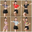 ベリーダンス ラテンダンス 衣装 子供 キッズ 全6種類 M-XLサイズ コスチューム 演出服 舞台 発表会 hycl08