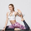 ヨガウエア yoga パンツ ヨガズボン レッスン着 ピラティス レギンス 練習服 桜 スポーツ S-XLサイズ yghk196