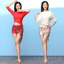 ショッピング上下セット ベリーダンス インドダンス 社交ダンス 2色 上下セット 舞台 練習服 演出 イベント ダンス衣装 vfs650t1