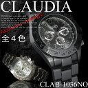 【ケース付き&送料無料♪】◇腕時計 デザインクロノグラフ 見やすい 数字 ウォッチ メンズ◇CLAB-1036NO