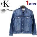カルバンクライン ジャケット Calvin Klein (カルバンクライン) メンズ デニムジャケット エッセンシャル トラッカージャケット ジージャン USA企画 大きいサイズ アメリカンサイズ ビッグサイズ 41VM793 【あす楽対応】