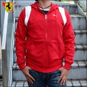 PUMA&Ferrariプーマ&フェラーリ【メンズ】フーディッドスウェットジャケットジップフーディーSF HOODED SWEAT JACKETROSSO CORSA761106-01【あす楽対応】