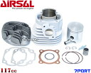 【超高品質スペイン製】Airsal超軽量7ポート117ccアルミボアアップ(専用シリンダーヘッド付) グランドアクシス/AEROX100/エアロックス100/BW'S100/BWS100