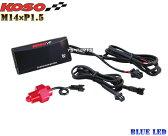 【正規品】KOSO LED油温計M14*1.5P青FZR250/FZR250R/FZ400/FZR400RR/ジール/SRX400/SRX600/YZF-R6/YZF-R1/XJ6F/XJ6S/TDM850/TRX850/MT-09/FZ09