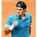 ★!ナイキ(Nike) フレンチオープンテニス2010 フェデラー使用モデル リストバンド ブルーグラス/ホ...
