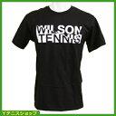 ★ポイント2倍★宝くじプレゼント(2万円以上購入で)★ウイルソン(wilson)テニス Tシャツ ブラック【あす楽】★2倍期間 12/8 1:59まで