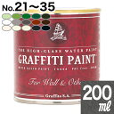 【取寄】GFW 200ml小型缶 ウォールアンドアザーズ・屋外使用可【【No.21からNo.35】の15色(全35色中)からお選びください。[1個単位] Graffiti Paint /ペンキ/水性塗料/木材・家具塗装/ツヤ無/グラフィティーペイント