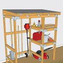 【DIYキット】Storage Center 大容量の収納庫組立キット工具やスコップ、芝刈り機など様々な物を収納出来る大容量の収納棚!《シンプソン金具と専用ビスのキット》SIMPSON金具