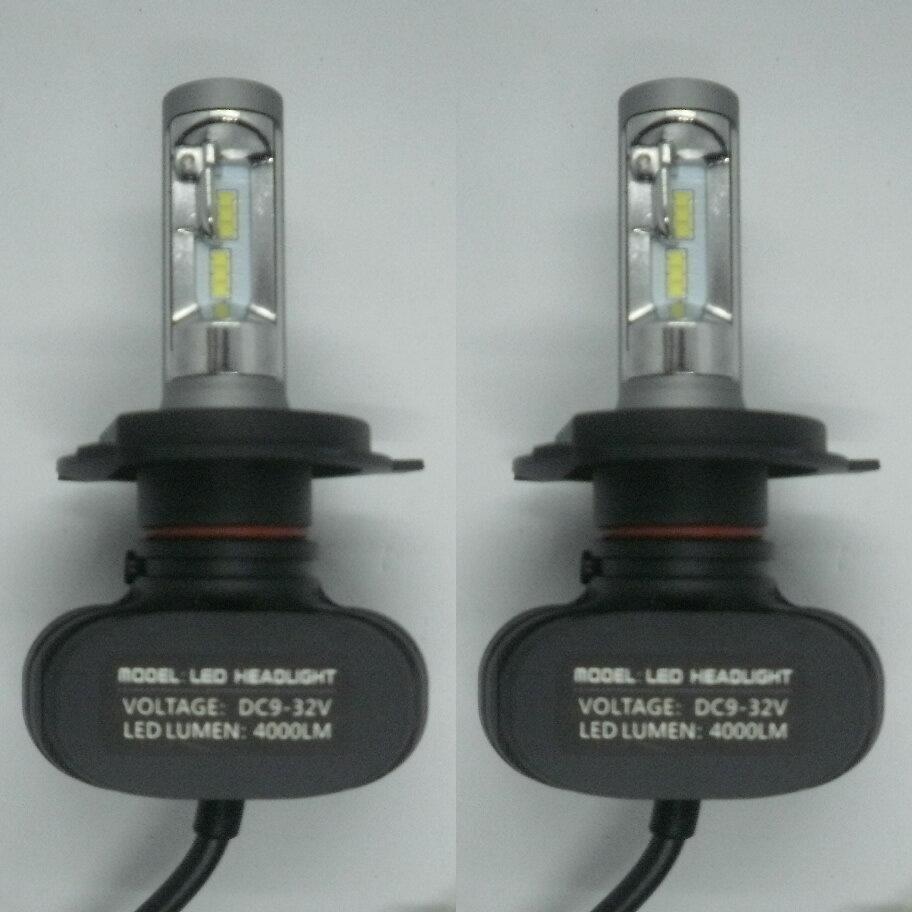 TOYOTA ハイエース H16.8 - H19.7 TRH20# ファンレス コントローラー一体型 LEDヘッドライト H4 Hi/Lo 6500K 4000LM 高輝度 車検適合 一年保証!2灯