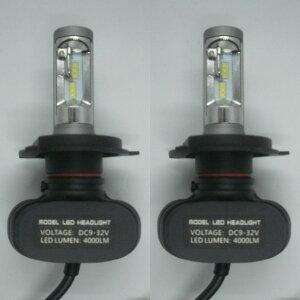 HONDA CR-V H13.9〜H16.8 RD4・5 ファンレス コントローラー一体型 LEDヘッドライト H4 Hi/Lo 6500K 4000LM 高輝度 車検適合 一年保証!2灯