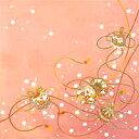 ちりめん友仙正絹風呂敷【花鼓にまり紐(ローズ)】2巾 約68×68cm
