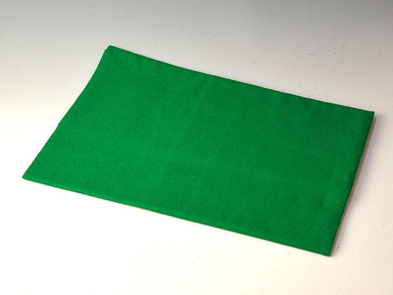 毛せん 緑(返し用) 90x 65 cm