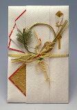 結納屋さんの金封【結婚・一般御祝】3〜10万円に最適 祝儀袋HM216【鶴 赤・白:短冊】
