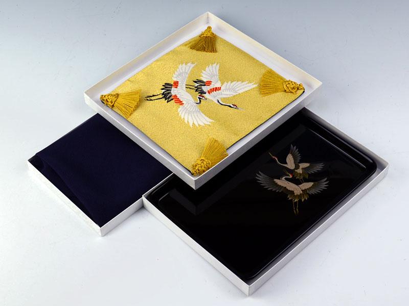 切手盆9号3点セット【鎌倉】 二羽鶴