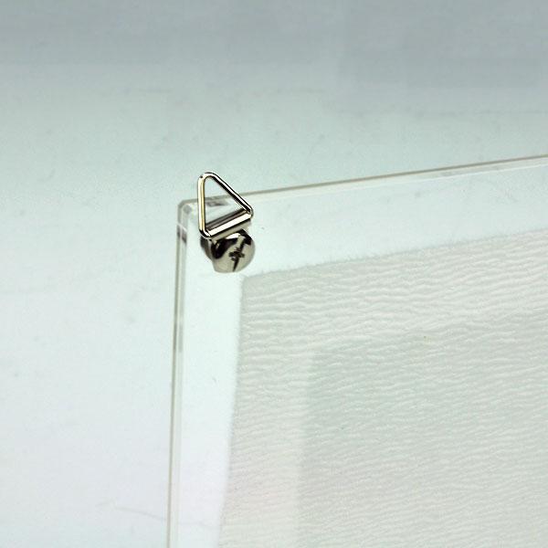 壁掛け用 吊り金具【命名書アクリルフレーム用】 三角吊り金具×2 ビス×2