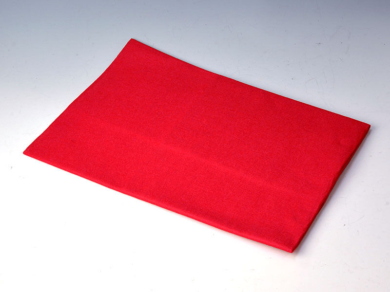 毛せん 赤 90x 65 cm【ウール】