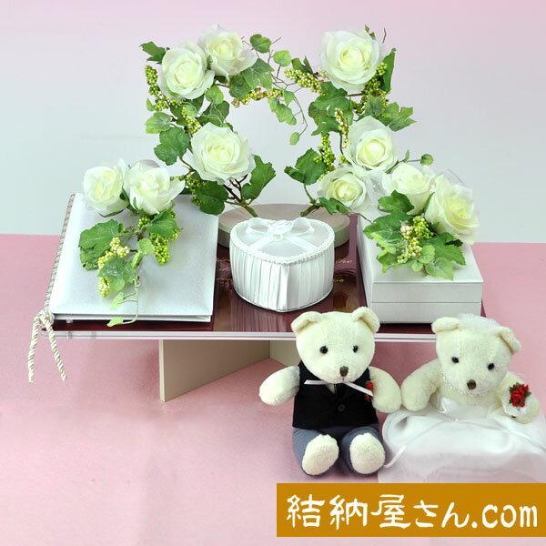 結納-略式結納品- Flora Crystal Ivy ベア付セット (毛せん付)