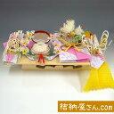 結納-略式結納品- 美雪セット スタイル3【アレンジ ピンク・毛せん付】
