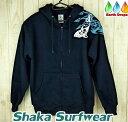 ハワイで人気!【メンズジップアップパーカー/Shaka surfwear】HAWAII ダークブルー【トライバル柄パーカー】メンズパーカー/サーフウェアー・ハワイ仕入れ濃紺大きなサイズ有