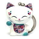 キーホルダー 招き猫 MANICAT(マニキャット) (MLCK003)キーリング付き/幸運/金運/縁起物/かわいい/おしゃれ/ドール/フィギュア/置物/インテリア/ギフト/プレゼント/輸入雑貨