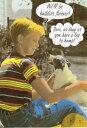 ポストカード 【カラー写真】犬と少年