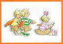 ポストカード 【イラスト】 絵本/三つ子ちゃんシリーズ「三つ子ちゃんのエイプリルフール」(HZN33