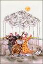 ポストカード 【イラスト】 クリスティーヌ・トゥゾー「楽譜のテントの下の音楽会」