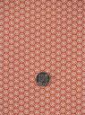ショッピングポリエステル 洗える着物反物・a-87小梅柄・樺色地