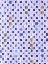 キッズ浴衣反物(7.6m)No.845 薄灰紫色・井桁柄