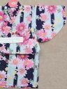 仕立て浴衣1〜2才 sy-4 苺・桜柄・紺水色地