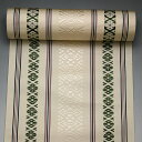 Green pure silk fabrics Hakata fabrics level ground presentation eight sun Hakata sash a kind of ceremony at a court noble's banquet ivory X [it includes sewing charges] (3-No. 3)