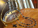 The again re-arrival! A bestseller! Fresh water, wood agate onyx cross necklace