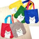 白猫ターチャン A4トートバッグ(エコバッグ 猫雑貨 ねこ雑貨 ネコ雑貨 猫グッズ ねこグッズ ネコグッズ キャット)