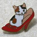 ポタリングキャット★猫ピンズ 靴 (猫雑貨 ねこ雑貨 ネコ雑貨 猫グッズ ねこグッズ ネコグッズ キャット)