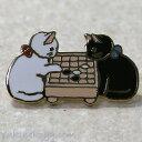 猫ピンズ 囲碁★ポタリングキャット 白猫 黒猫(ピンバッチ ...