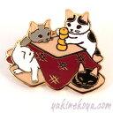 ショッピングこたつ 猫ピンズ こたつ★ポタリングキャット 黒猫 白猫 ハチワレ 灰色猫(ピンバッチ 猫雑貨 ネコグッズ ねこ キャット)