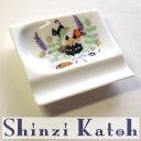 【Shinzi Katoh】アニーブンキャッツ おもてなしレスト(猫とハーブ)(箸置き ティトレイ 小皿 ミニプレート 猫雑貨 ねこ雑貨 ネコ雑貨 猫グッズ ねこグッズ ネコグッズ キャット)